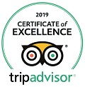 Trip Advisor 2019 Certificate of Excellence badge for Mount Baker Theatre