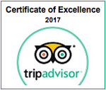 Trip Advisor 2017 Certificate of Excellence badge for Mount Baker Theatre